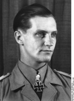 Portrait of Hauptmann Hans-Joachim Marseille, mid-Sep 1942; note Knight