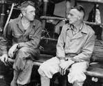 Frank Merrill and Joseph Stilwell, Naubumy, Burma, 4 May 1944