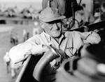Mitscher aboard USS Lexington, Jun 1944