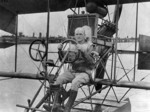 Lieutenant (jg) Marc Mitscher in an A-type seaplane, Pensacola, Florida, United States, circa 1916