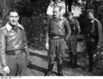 German Luftwaffe Oberstleutnant Werner Mölders and his wingman Oberleutnant Georg Claus, circa mid-1940