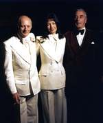 Louis Mountbatten with Lord Montagu and Fiona Margaret Herbert on the latters