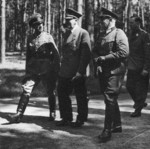 Adolf Hitler with Colonel Friedrich-Wilhelm Müller and other officers at one of Hitler