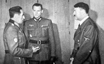 Spanish General Agustín Muñoz Grandes with Adolf Hitler, circa Mar 1942
