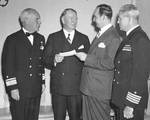 Murray, Knox, and Jenkins received a War Bond check from Atlanta politician John Connor, Mar 1943