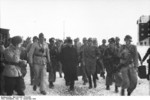 Benito Mussolini with Otto Skorzeny and other rescuers, Gran Sasso, Italy, 12 Sep 1943, photo 2 of 2