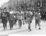 Adolf Hitler and Benito Mussolini at München, Germany for the Munich Conference, 29 Sep 1938, photo 9 of 9