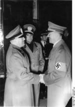 Benito Mussolini, Galeazzo Ciano, and Adolf Hitler, München, Germany, 29 Sep 1938