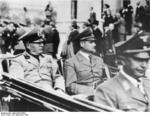 Benito Mussolini and Rudolf Heß at München, Germany, 29 Sep 1938
