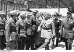 Benito Mussolini inspecting German troops, Sicily, Italy, 25 Jun 1942