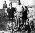 Benito Mussolini and his family at Levanto, Italy, 1923