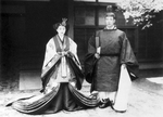 Wedding photo of Prince Nagahisa and Sachiko Tokugawa, 26 Apr 1935