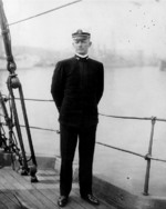 Ensign Chester Nimitz aboard a US Navy training ship, circa 1907