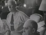 Chester Nimitz listening to Douglas MacArthur