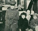Nishi and his family just prior to his departure for Berlin, Germany for the Olympic Games, 1936