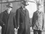 Physicists Yoshio Nishina, Llewellyn Thomas, and Friedrich Hund in Copenhagen, Denmark, 1926