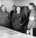 Hitler and Keitel in meeting with Finnish General Öhquist in Germany, circa 1941