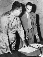 Groves and Oppenheimer at Los Alamos, New Mexico, United States, 1940s