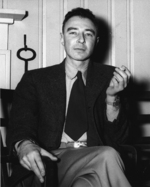 J. Robert Oppenheimer at the Guest House, Oak Ridge, Tennessee, United States, circa Feb 1946