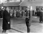 Lieutenant Colonel Osterkamp taking commanding of a garrison at Werneuchen, Brandenburg, Germany, 27 Nov 1937