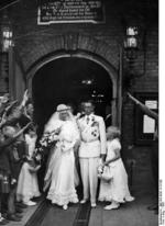 Wedding of pilots Theodor Osterkamp and Fel Gudrun Pagge, Hamburg, Germany, 1933