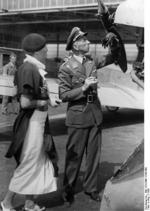 Osterkamp and his wife inspecting an aircraft, Berlin, Germany, 1933, photo 1 of 2