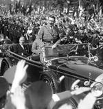 Hitler and Papen at Lustgarten, Berlin, Germany, 1 May 1933