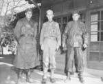 Lieutenant Colonel Raymond Murray, General Oliver Smith, and Colonel Lewis Puller at Smith