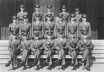 Lewis Puller (front row, third from left) and fellow officers of 2nd Battalion, US 4th Marine Regiment, Shanghai, China, 1941