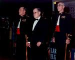 Lewis Puller at the US Marine Corps birthday celebration, Quantico, Virginia, United States, 10 Nov 1969, photo 2 of 5