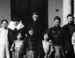 Portrait of Puyi and his family, date unknown