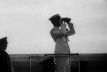 Kangde Emperor of puppet state of Manchukuo aboard a warship en route to Japan, 1935, photo 2 of 2