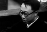 Puyi at the International Military Tribunal for the Far East in Tokyo, Japan, mid-Aug 1946, photo 5 of 6