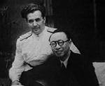 Puyi with a Soviet official, China, circa 1960s