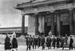 Emperor Kangde of the puppet state of Manchukuo leaving at the dedication ceremony of the Manchukuo National Martyr Shrine, Xinjing (Changchun), China, 18 Sep 1940