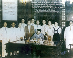 Official signing ceremony of the Charter of Zamboanga City, Mindanao island, Philippine Islands, 12 Oct 1936