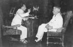 Philippine President Manuel Quezon and US High Commissioner Paul McNutt, 1938