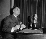Manuel Quezon giving a radio address regarding woman suffrage and speeding up the Philippine independence timeline, Washington DC, United States, 5 Apr 1937, photo 2 of 2