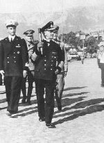 Raeder reviewing Italian Navy with Captain Francesco Mimbelli, 9 Sep 1942