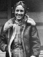 American pilot Margaret Ray in flying gear, date unknown