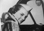 Margaret Ray in an aircraft cockpit