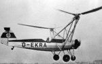 Hanna Reitsch piloting the Fw 61 helicopter V 2 D-EKRA, circa 1938