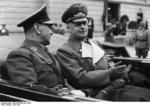 Ante Pavelić and Joachim von Ribbentrop in Salzburg, German occupied Austria, 6 Jun 1941