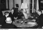Vyacheslav Molotov and Joachim von Ribbentrop, Berlin, Germany, 12 Nov 1940. Photo 1 of 2.