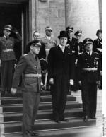 German Foreign Minister Joachim von Ribbentrop and Estonian Foreign Minister Karl Selter, Berlin, Germany, 7 Jun 1939