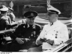 Romanian Prime Minister Ion Gigurtu and German Foreign Minister Joachim von Ribbentrop in Salzburg, German-occupied Austria, 27 Jul 1940