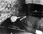 The body of Joachim von Ribbentrop after his execution, Nürnberg, Germany, 16 Oct 1946