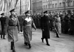 German Field Marshal Wilhelm Keitel, German Foreign Minister Joachim von Ribbentrop, and Slovakian Prime Minister Vojtech Tuka reviewing troops, Berlin, Germany, Nov 1940