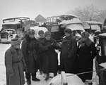 Konstantin Rokossovsky and other officers inspected captured German equipment, Russia, 10 Dec 1941