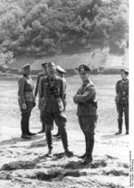 German Army Lieutenant Colonel Julius von Bernuth and Major General Erwin Rommel, near the Moselle River, Germany, early 1940